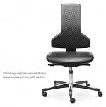 SAFEGUARD - IS 2011_CLR ST 013033 013033 V12 – E76-GLEITER - Cleanroom chair Tec profile, glider, PU cushion, inclination -4° - SafeGuard Edition, WL46441