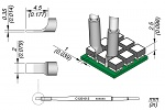 JBC - C120013 - Soldering tip, blade-shaped, 2 x 0.35 mm, WL45192