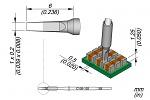 JBC - C105125 - Soldering tip chisel-shaped, straight, 1 x 0.2 mm, WL35496