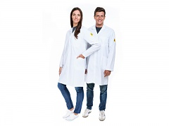 SAFEGUARD - Eco Line - M - ESD work coat Eco Line, white, M, WL41081