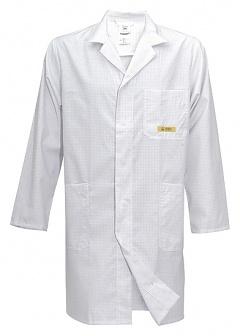 HB SCHUTZBEKLEIDUNG - 08005 48011 000 10 - ESD work coat CONDUCTEX, long sleeve, men, white, XL, WL20159