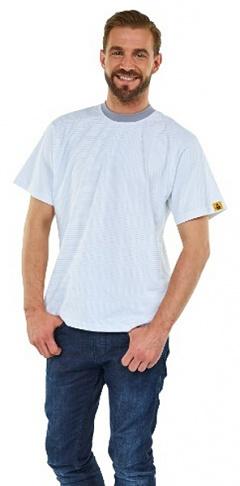 WARMBIER - 2653.T.M - ESD T-Shirt short sleeve, white, unisex, M, WL43854