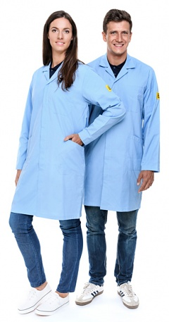 SAFEGUARD - Eco Line - XXL - ESD work coat Eco Line, light blue, XXL, WL41095