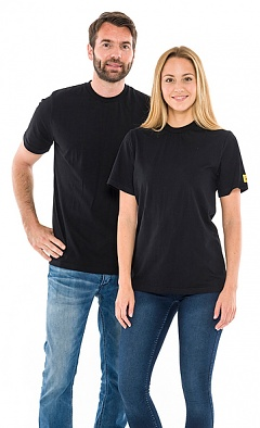 SAFEGUARD - SafeGuard ESD - ESD T-Shirt round neck black, 150g/m², XL, WL31976