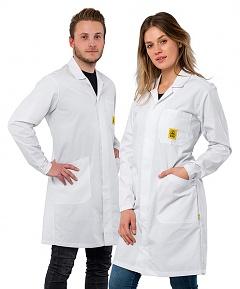 SAFEGUARD - Pro Line Plus - XL - ESD work coat Pro Line PLUS, long sleeve, unisex, white, XL, WL42403