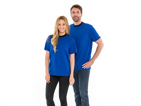 SAFEGUARD - SafeGuard ESD - ESD T-shirt, round neck royal blue, XS, WL31970