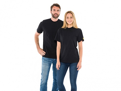 SAFEGUARD - SafeGuard PRO - ESD T-shirt, round neck black XL, WL43882