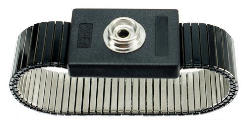 SAFEGUARD - SAFEGUARD ESD - ESD-Armband Metall, 10 mm Druckknopf, WL24921