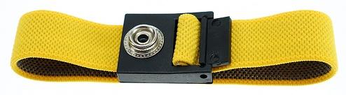 SAFEGUARD - SAFEGUARD ESD - ESD-Armband gelb, 10 mm Druckknopf, WL42058