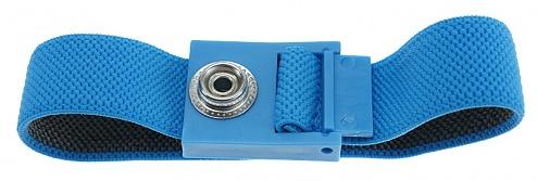 SAFEGUARD - SAFEGUARD ESD - ESD-Armband hellblau, 10 mm Druckknopf, WL42057