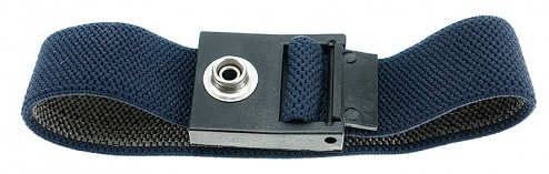 SAFEGUARD - SAFEGUARD ESD - ESD-Armband dunkelblau, 7 mm Druckknopf, WL42056