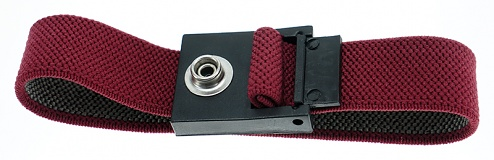 SAFEGUARD - SAFEGUARD ESD - ESD-Armband rot, 7 mm Druckknopf, WL32796