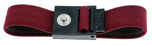 SAFEGUARD - SAFEGUARD ESD - ESD-Armband rot, 3 mm Druckknopf, WL24919
