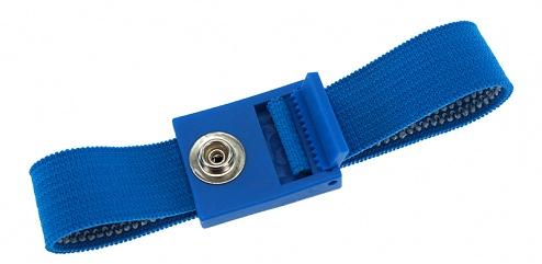 SAFEGUARD - 2050.750.7 - ESD-Armband hellblau, 7 mm Druckknopf, verzahnter Verschluss, WL27409