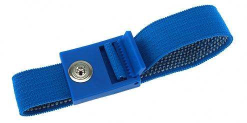 SAFEGUARD - SAFEGUARD ESD PRO - ESD-Armband hellblau, 3 mm Druckknopf, verzahnter Verschluss, WL19531