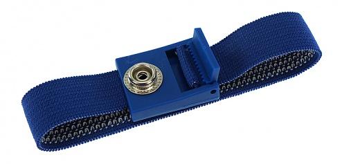 SAFEGUARD - 2051.750.10 - ESD-Armband dunkelblau, 10 mm Druckknopf, verzahnter Verschluss, WL19686