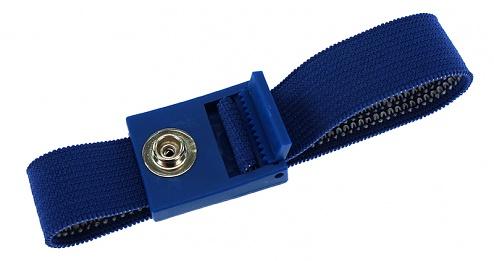 SAFEGUARD - SAFEGUARD ESD PRO - ESD-Armband dunkelblau, 7 mm Druckknopf, verzahnter Verschluss, WL43715