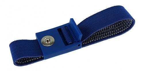 SAFEGUARD - 2051.750.3 - ESD-Armband dunkelblau, 3 mm Druckknopf, verzahnter Verschluss, WL20421