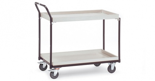 FETRA - 1871 - ESD table trolley, 2 boxes, 300 kg, 1000 x 600 mm, WL34221