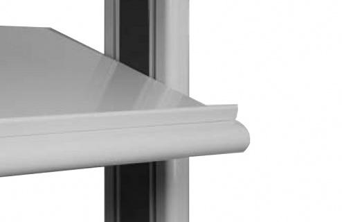 KARL - 110.150.47 - Quadro Twin sheet steel shelf, 1800 x 450 x 30 mm, WL39550
