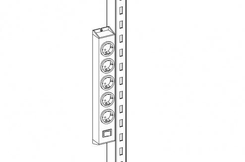 KARL - 39.682.70 - Halterung für Steckdosenleiste, grau, WL34446