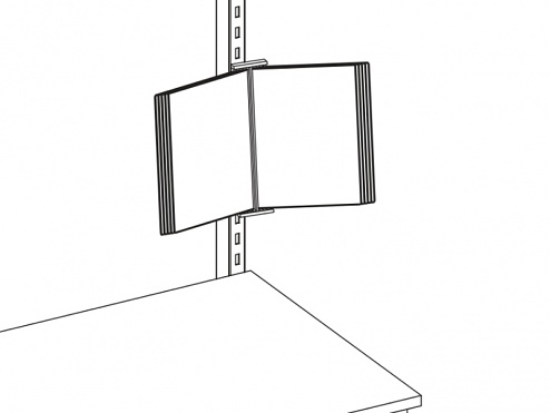 KARL - 39.619.98 - ESD-Vorschriftenhalter, DIN A4, schwenkbar, 280 x 370 mm, WL34837