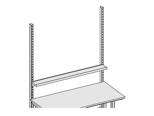 KARL - 39.307.70 - Ablage Einhängbar 1500 x 150 x 45 mm, grau, WL31354