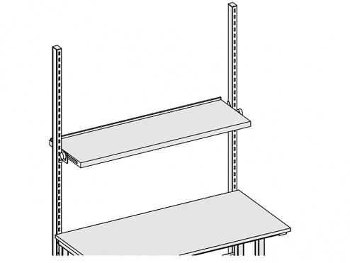 KARL - 39.009.70 - Ablage Stufenlos Neigbar 1415 x 450 x 55 mm, grau, WL31534