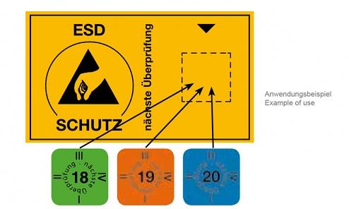 WARMBIER - 2850.6035.20.D - Date sticker, 15 x 15 mm sky blue 2020, 30 pcs / sheet, German, WL44284
