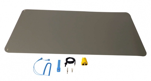 WARMBIER - 1402.690.SET - ESD table mat set, with table mat 610 x 1220 x 2 mm incl. accessories, WL43405