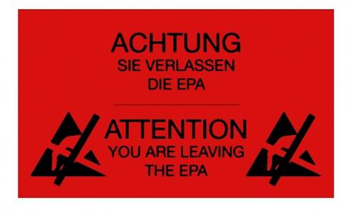 WARMBIER - 2850.300500.R.DE - ESD warning film, EPA area, WL26189
