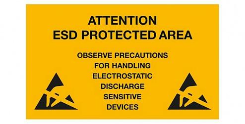 WARMBIER - 2850.150300.E - EPA warning sign, 300 x 150 mm, PVC, yellow, English, WL33936