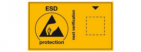WARMBIER - 2850.6035.E - Sticker with ESD symbol for due date mark, english, WL35871
