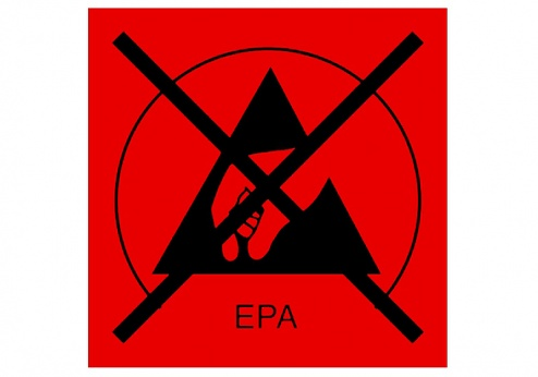 WARMBIER - 2850.3030.R - ESD symbol, type EPA, red/ strikethrough - Sticker, WL32228