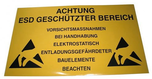 WARMBIER - 2850.150300.D - EPA warning sign, 300 x 150 mm, PVC, yellow, German, WL27068