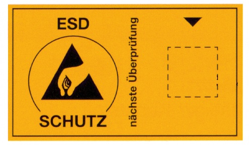 WARMBIER - 2850.6035.D - Sticker with ESD symbol for due date mark, German, WL19146
