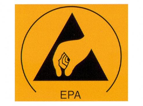 WARMBIER - 2850.3025 - ESD Symbol Type EPA - Sticker, WL21008