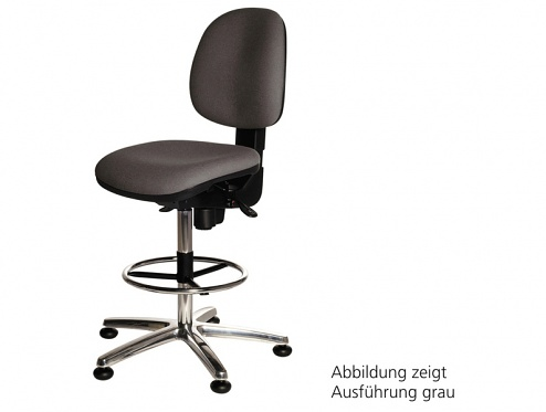 WARMBIER - 1710.KS.D - ESD Chair COMFORT Chair High chair grey, foot ring, WL20372