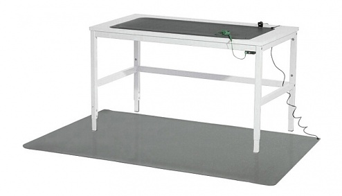 WARMBIER - 1250.683 - ESD workstation set, table mat, grey, 610 x 1220 x 2 mm incl. accessories, WL26520