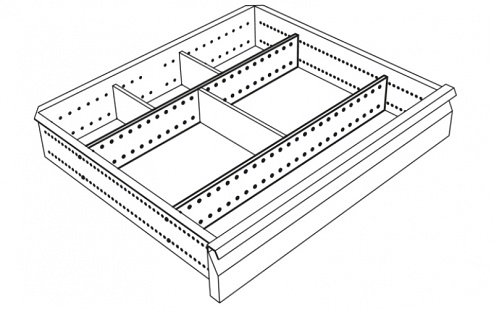 KARL - 96.226.70 - ESD Long dividers for drawer, WL35632
