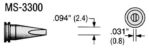 PLATO - MS-3300 - Soldering tip for 80 W soldering iron, WL18097