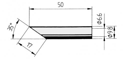 ERSA - 0832LDLF/SB - Soldering tip straight, bevelled, 17.0 mm, WL36110