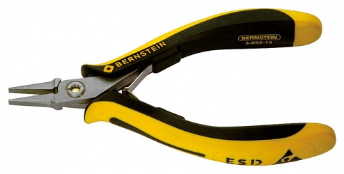 BERNSTEIN - 3-992-15 - ESD flat nose pliers TECHNICline smooth gripping surfaces 130mm conductive, WL43214