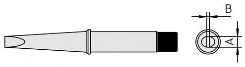 WELLER - 4CT6C7-1 - CT6 C7 Soldering tip chisel shape 370°C, 3.2 mm, WL16773