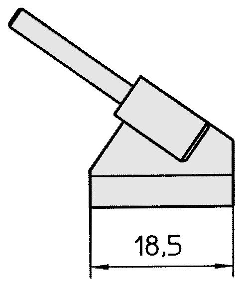 WELLER - T0054414499 - WTA 5 Spitzenset gebogen 45°, meißelförmig 18,5 x 0,5 mm, WL17117
