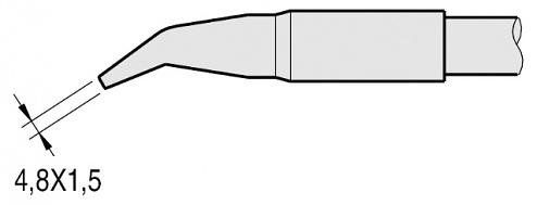 JBC - C250412 - Soldering tip chisel-shaped, curved, 4.8 x 1.5 mm, WL22874