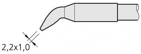 JBC - C250406 - Soldering tip chisel-shaped, curved, 2.2 x 1 mm, WL22386