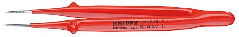 KNIPEX - 92 27 62 - Precision tweezers pointed, straight, insulation, WL33509