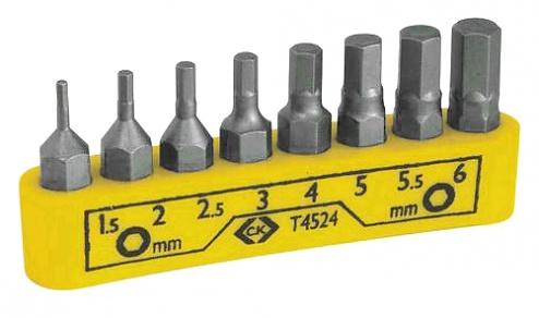 T4524 - Screwdriver bit set, hexagon, WL44140