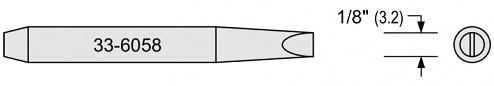 PLATO - 33-6058 - 33-series soldering tip, chisel-shaped, B: 3.2 mm, WL14625